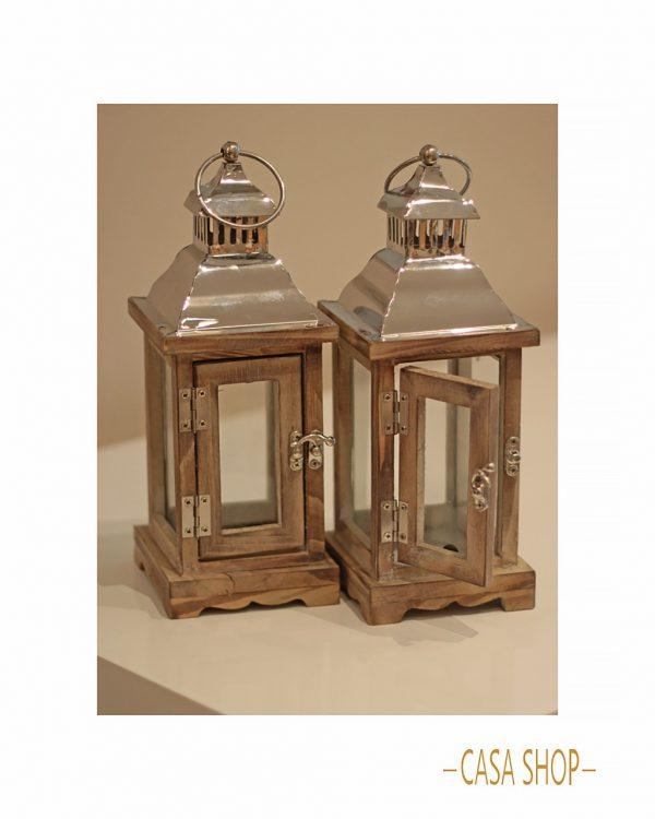goods lanterna madeira e inox
