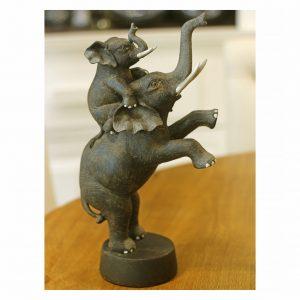 City Escultura Elefante Resina